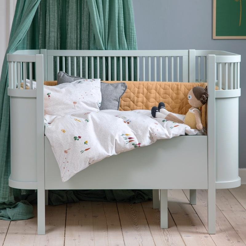 Sebra <br/> Baby und Junior Bett <br/> Mist Green