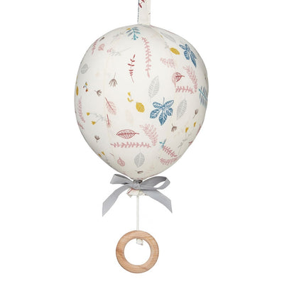 Cam Cam Balloon Mobile Music Box Pressed Leaves Rose