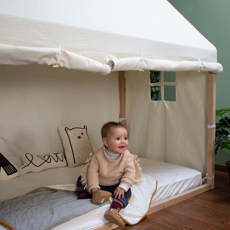 Childhome Cover for children's house bed White 90x200 cm