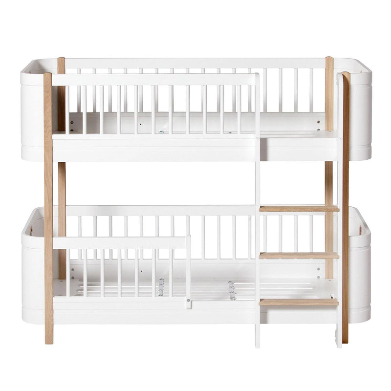 Oliver Furniture <br/> Wood Mini+ Halbhohes Etagenbett <br/> Weiss/Eiche
