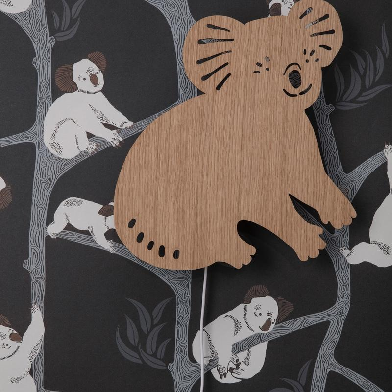 Ferm Living <br/> Tapete Koala <br/> Dark Green
