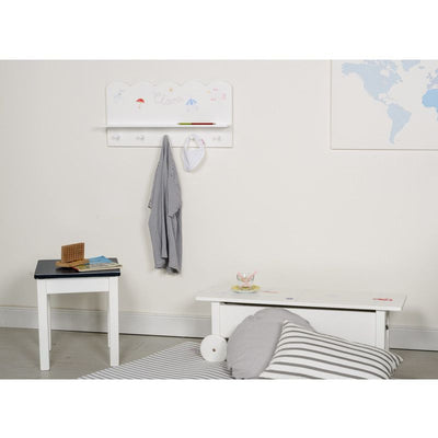 Isle of Dogs Hanging shelf / cloakroom White, cloakrooms, Isle of Dogs - SNOWFLAKE children's furniture concept store