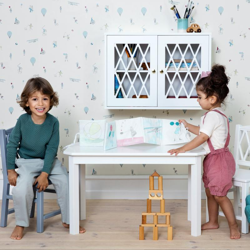 Cam Cam <br/> Harlequin Kindertisch <br/> White