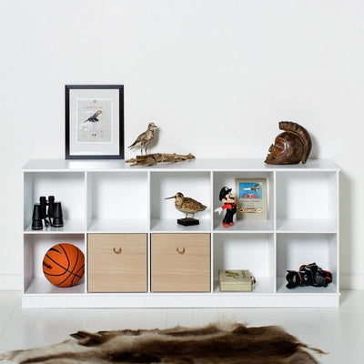 Oliver Furniture Shelf 5x2 compartments Wood White, shelves, Oliver Furniture - SNOWFLAKE children's furniture concept store