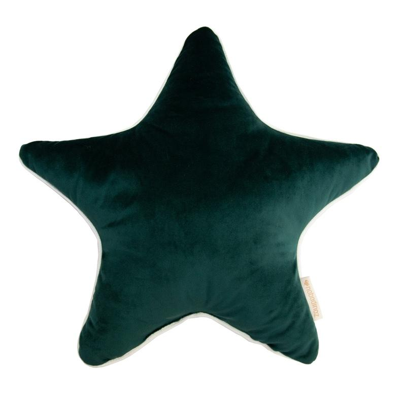 Nobodinoz <br/> Velvet Kissen Aristote 40x40 cm <br/> Jungle Green