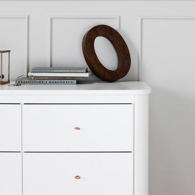 Oliver Furniture Wood chest of drawers with 6 drawers White / oak