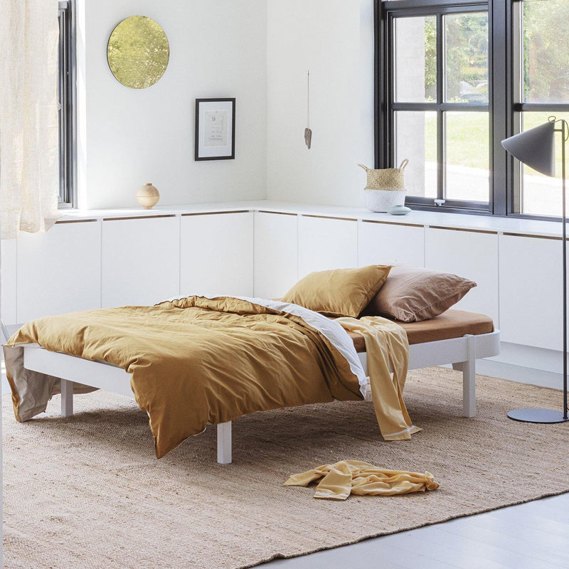 Oliver Furniture Wood Lounger Bed 120 x 200 cm White