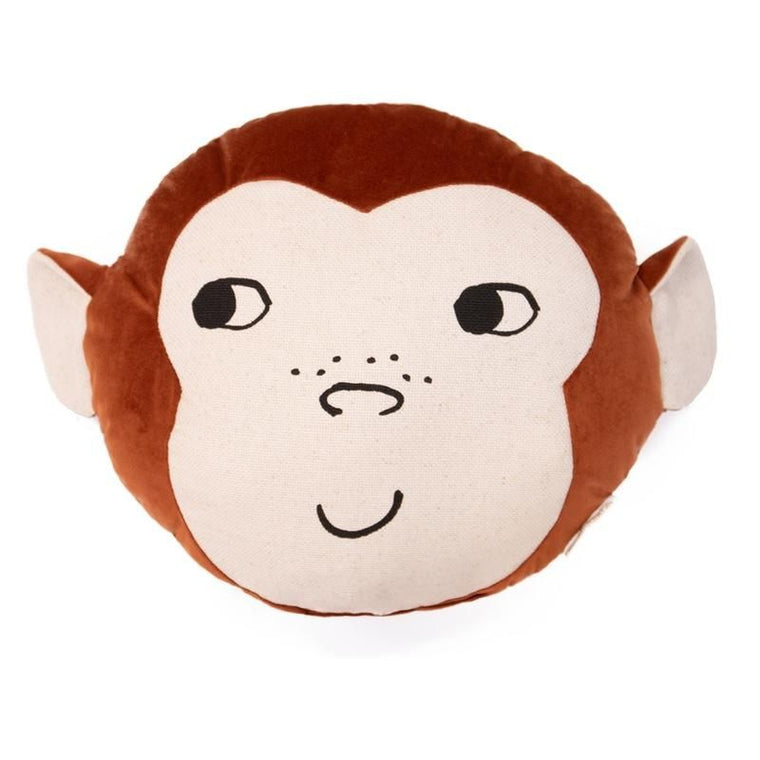 Nobodinoz <br/> Velvet Kissen Monkey <br/> Wild Brown