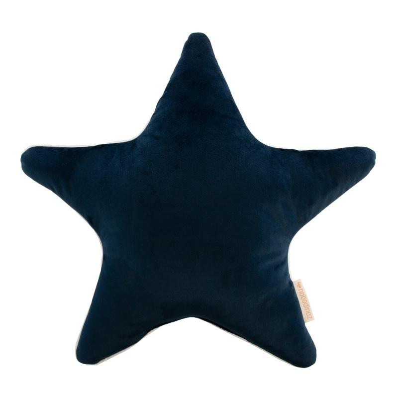 Nobodinoz <br/> Velvet Kissen Aristote 40x40 cm <br/> Night Blue