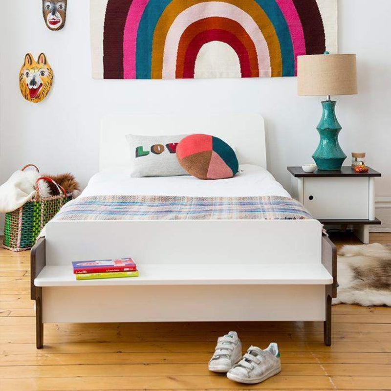 Oeuf NYC ML bedside table Walnut / white, tables, Oeuf NYC - SNOWFLAKE children's furniture concept store