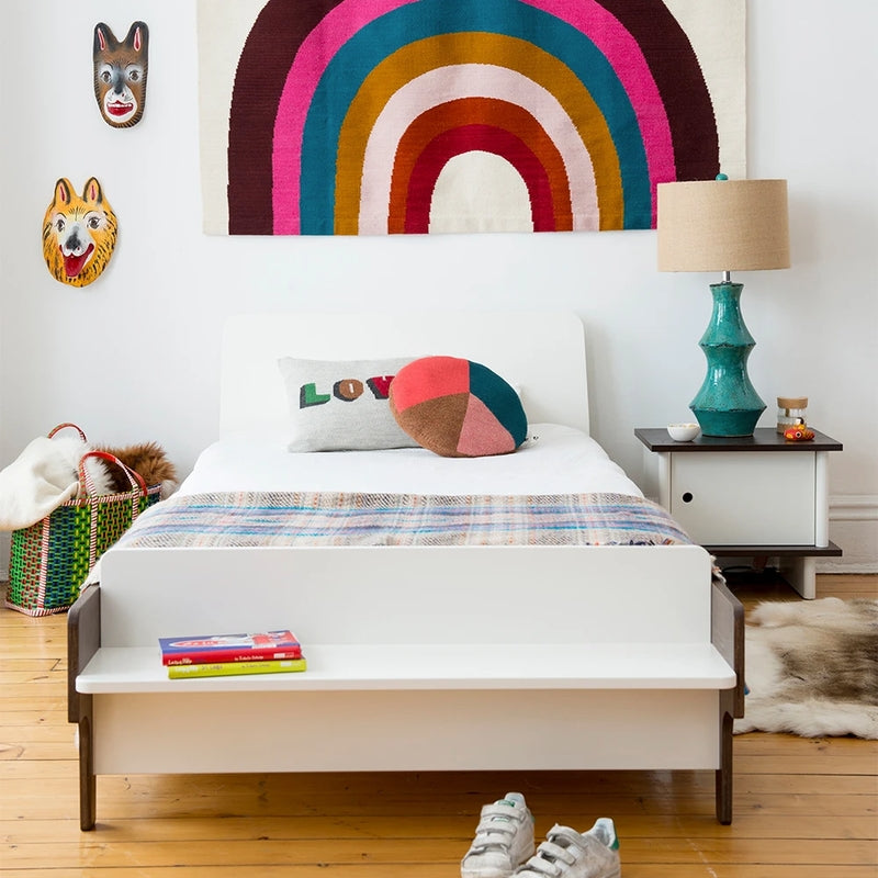 Oeuf NYC River cot Walnut / white, single beds, Oeuf NYC - SNOWFLAKE children's furniture concept store