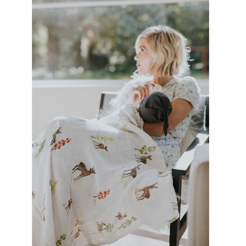Little Unicorn <br/> Cotton Swaddle <br/> Oh Deer