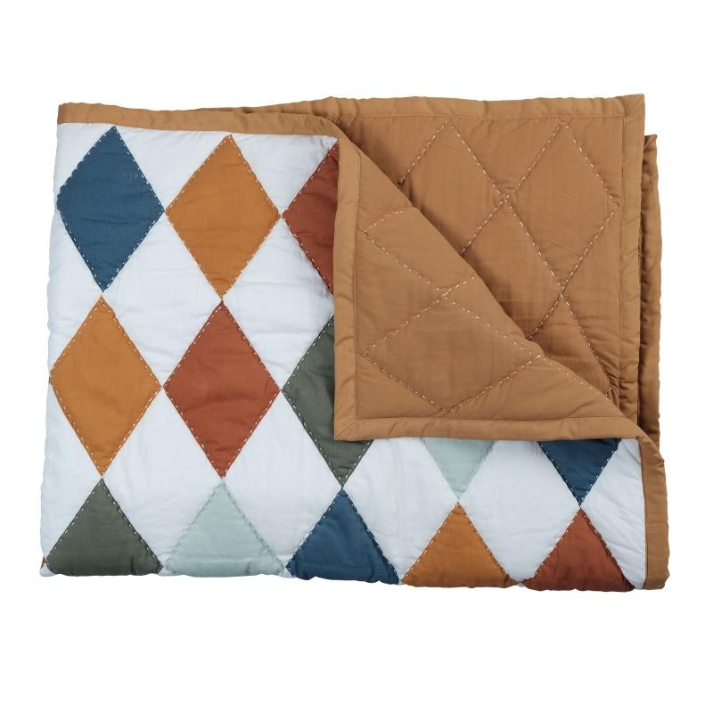 Fabelab <br/> Patchwork Tagesdecke Diamond <br/> Multi