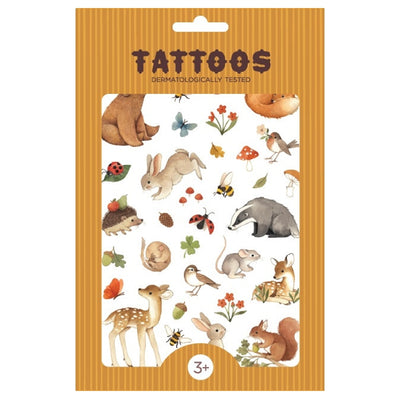 Petit Monkey Children's tattoos A Day in the Woods Multi