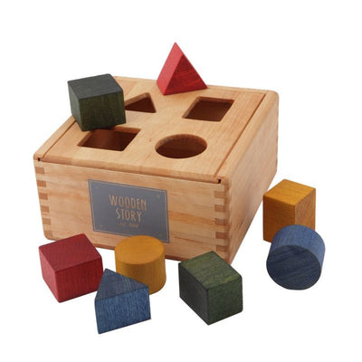 Wooden Story Plug-in box Rainbow, wooden toys, Wooden Story - SNOWFLAKE children's furniture concept store