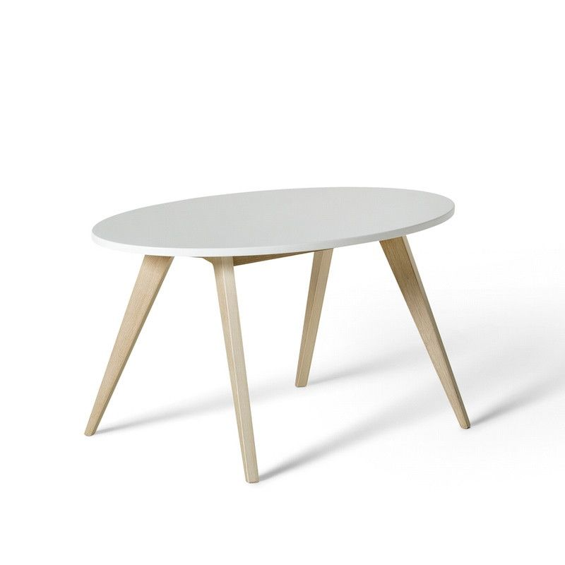 Oliver Furniture <br/> Kindertisch PingPong Wood <br/> Weiss/Eiche,Tische, Oliver Furniture - SNOWFLAKE kindermöbel concept store