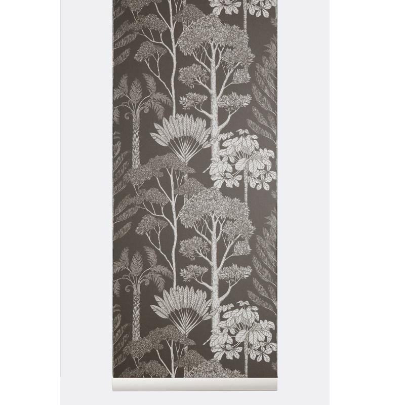 Ferm Living <br/> Katie Scott Tapete Trees <br/> Brown Grey
