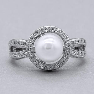Pearl Birthstone Brilliant Ring