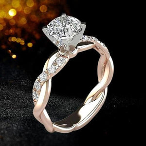 Twist Classical Love Ring