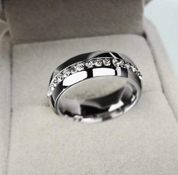 Free Jewelry -  Crystal Cubic Stainless Steel Ring - Clever Clad