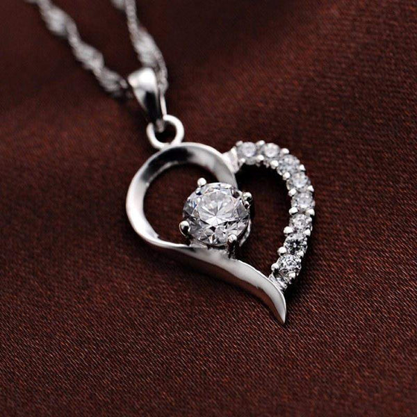 Free Jewelry - Love Heart Shaped Necklace - Clever Clad