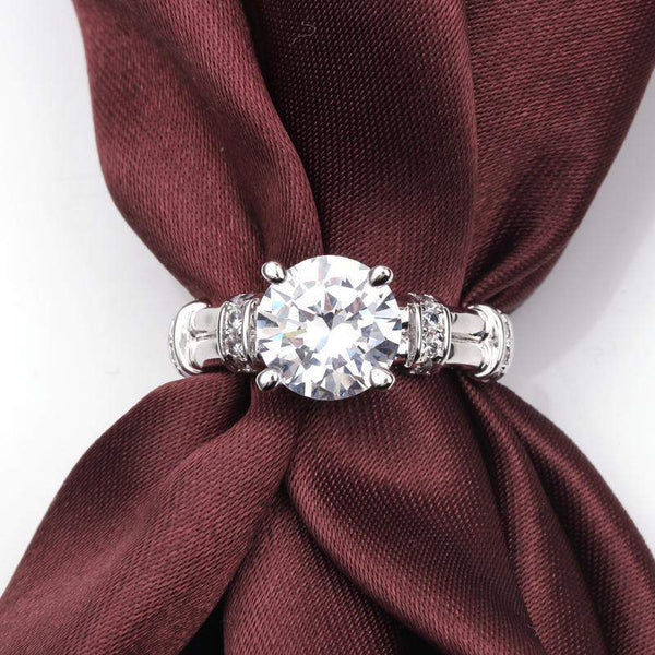 2018 Luxury Vintage AAA+ Zircon Bridal Ring