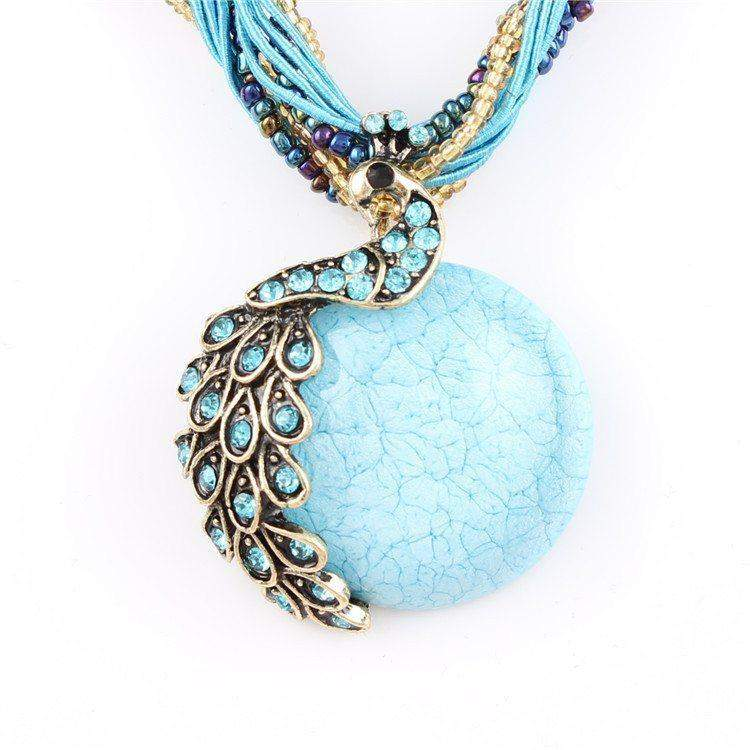 Free Jewelry - Decorative Peacock Necklace - Clever Clad