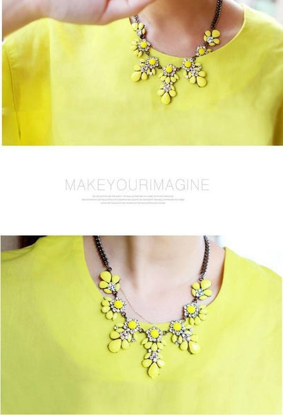 Free Jewelry - Charms Crystal Collar Necklace - Clever Clad