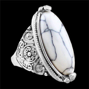 Free Jewelry - White Oval Ring - Clever Clad