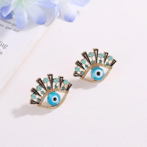 Vintage Eye Shape Stud Earrings