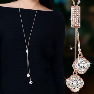 Femme Long Crystal Necklaces
