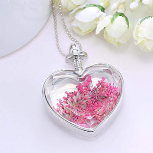 Free Jewelry - Glass Heart Floating Necklace - Clever Clad