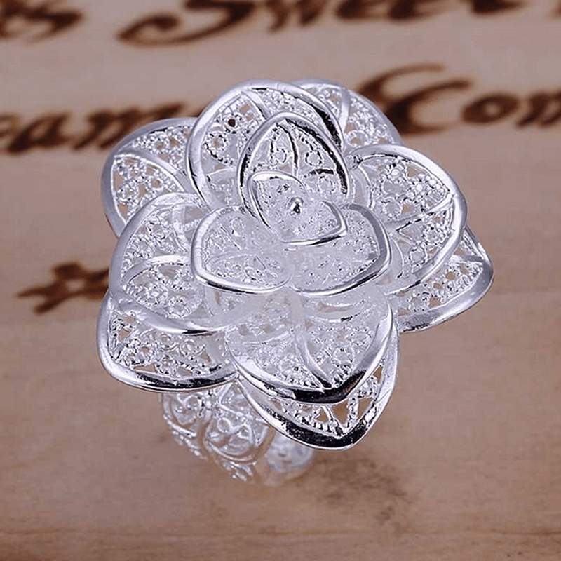 Free Jewelry - Blooming Flower Ring [Adjustable Size] - Clever Clad
