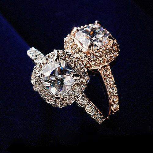 Free Jewelry - Shiny Luxury Engagement Ring - Clever Clad