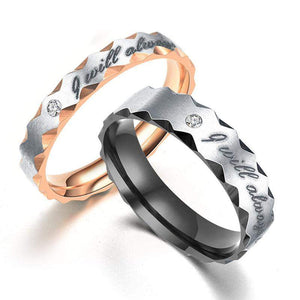 "New Released ""I Will Always Be With You"" Romantic Lovers Ring"
