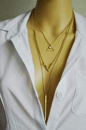 Free Jewelry -  Geometric Triangle Necklace - Clever Clad