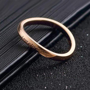 2018 Love U For Infinity Irregular Wedding Ring