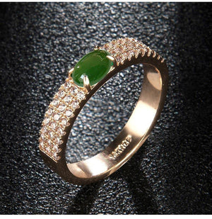 Best Selling Green Stone Zirconia Bridal Ring