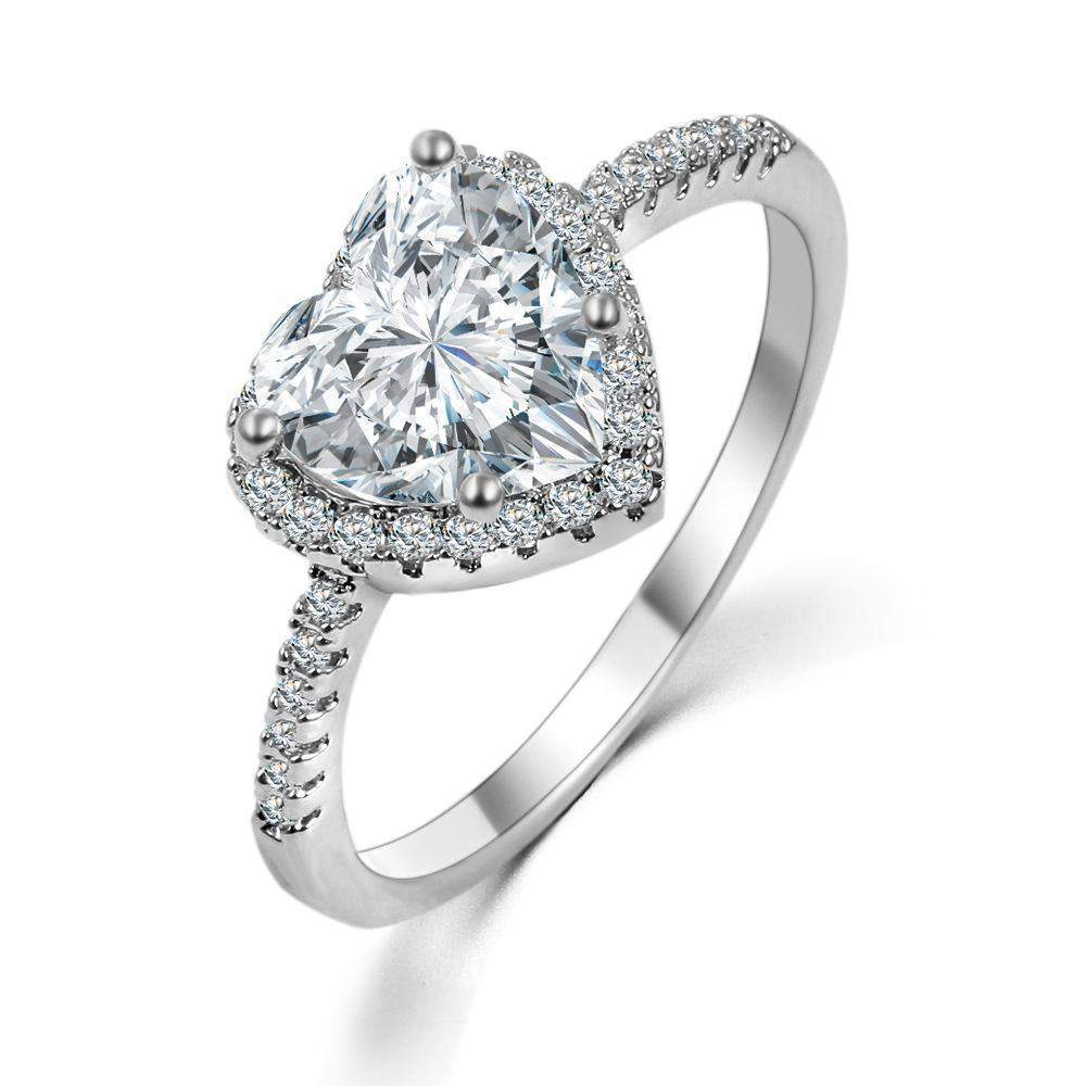 Top Rated Romantic Heart Wedding Ring