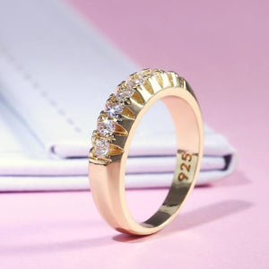 Fashion Shine Inlay Single Ring