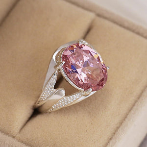 Pretty Pink Engagement Ring