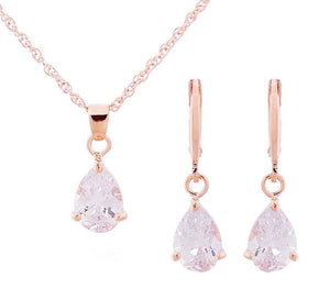 Waterdrop Crystal Female Necklace