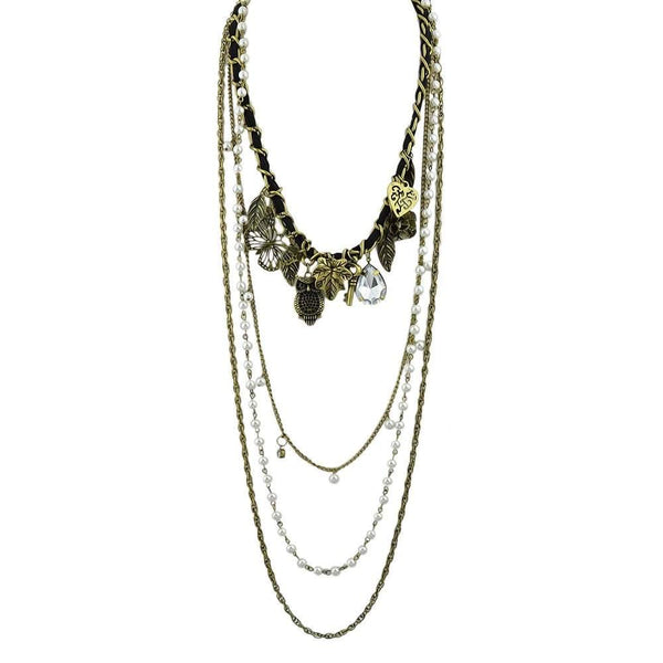 Free Jewelry - Long Multi Layer Chain Necklace - Clever Clad