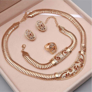Best Selling Ethiopian Rhinestones Lady Jewelry Set