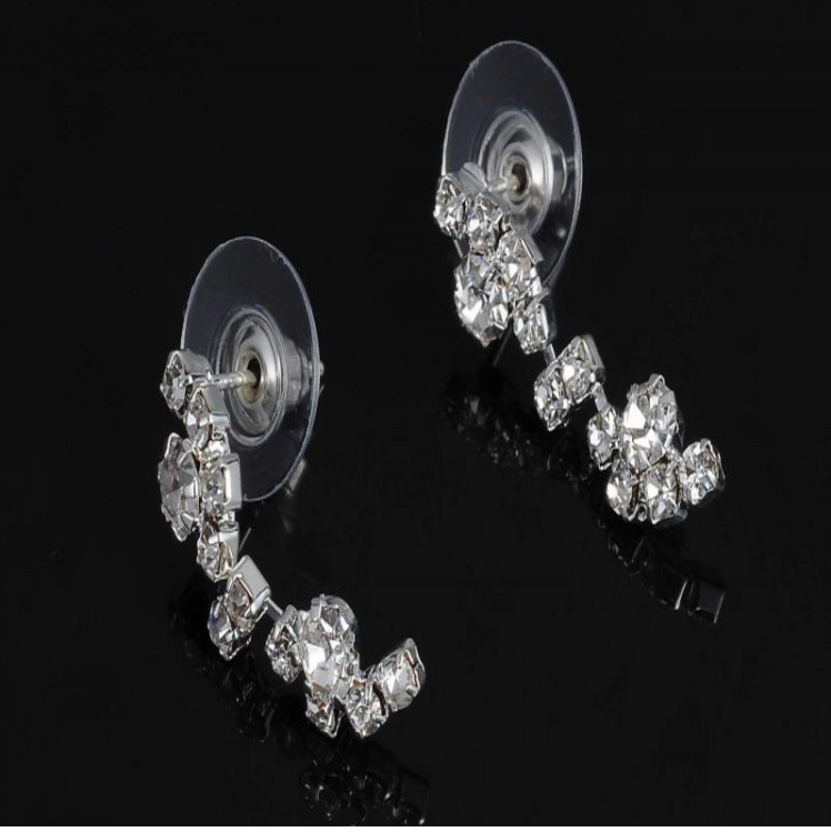 Silver Tone Crystal Tennis Jewelry Sets