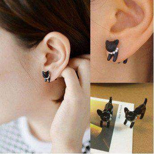 Free Jewelry - Cat Stud Earring (Pair) - Clever Clad