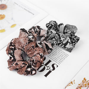 Ladies Stretch Ponytail Rubber Print Headband