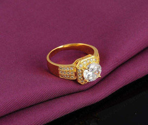 Free Jewelry - Gold Colored Cubic Ring - Clever Clad