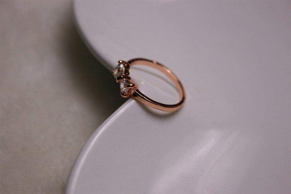 Free Jewelry - Gold Colored Bow Ring - Clever Clad