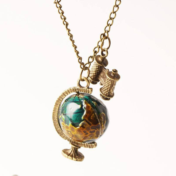 Free Jewelry - Globe Telescope Ball Necklace - Clever Clad